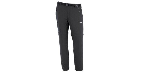 Pánské šedé kalhoty s odnímatelnými nohavicemi Goritz