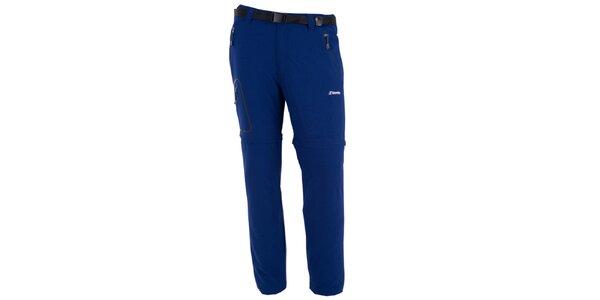 Pánské tmavě modré kalhoty s odnímatelnými nohavicemi Goritz