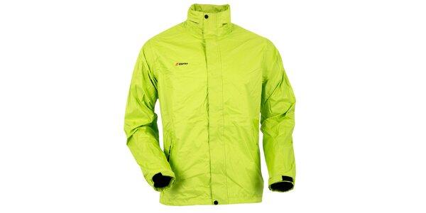 Pánská světle zelená bunda do deště Goritz