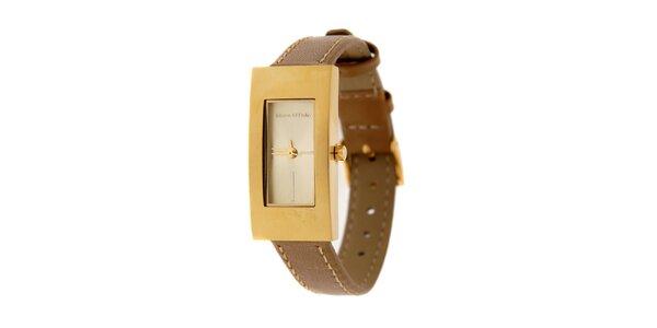 Dámské hodinky Marc O´Polo s hnědým koženým řemínkem