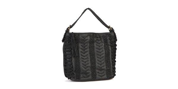 Dámská černá kabelka Steve Madden s výšivkou