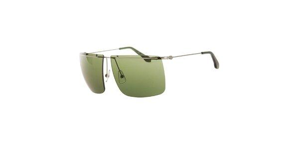 Pánské sluneční brýle se zelenými sklíčky Calvin Klein