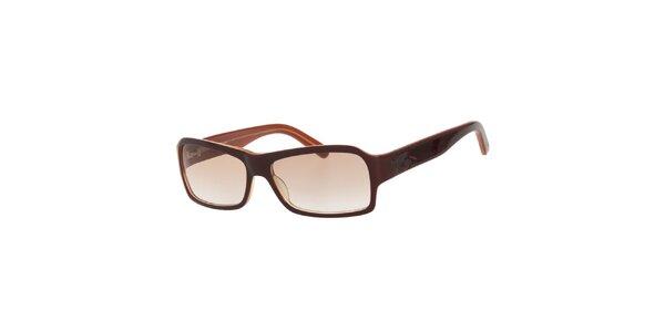 Dámské hnědé sluneční brýle s hnědými skly Calvin Klein