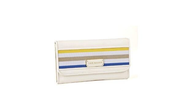 Dámské bílá peněženka Steve Madden s proužky