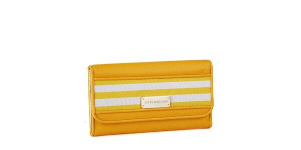 Dámská žlutá peněženka Steve Madden s proužky