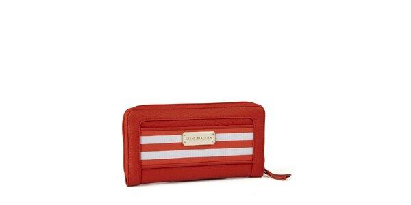 Dámská oranžová peněženka Steve Madden s proužky