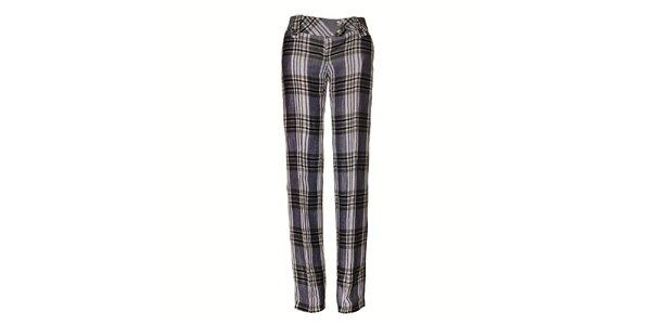 Dámské černobílé kostkované kalhoty Pietro Filipi