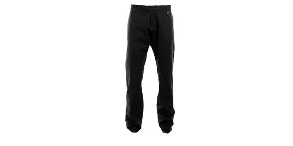 Pánské tmavě šedé kalhoty s jemným vzorem Pietro Filipi