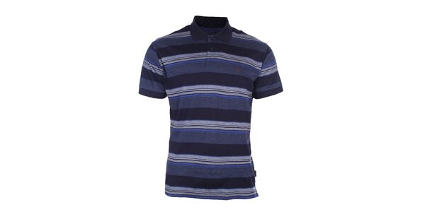 Pánské modré pruhované polo triko Pietro Filipi