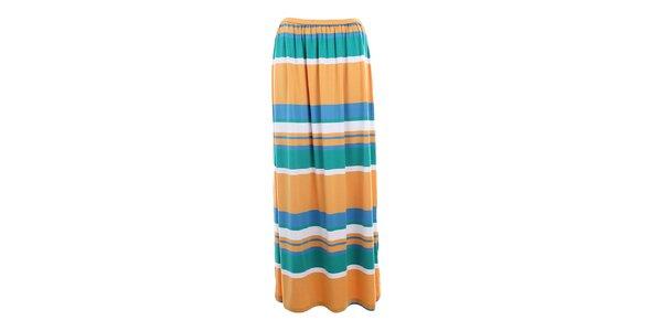 Dámská sukně s barevnými pruhy Pietro Filipi