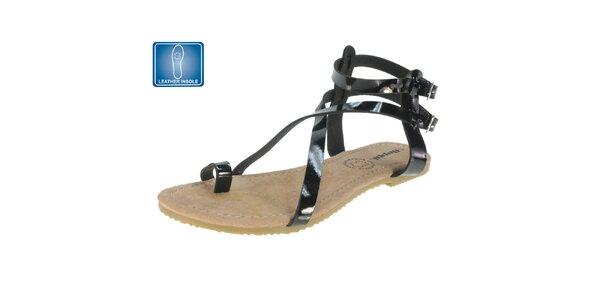 Dámské sandály s černými pásky Beppi