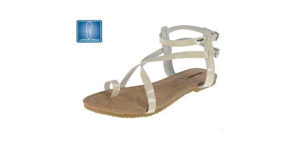 Dámské sandály s béžovými pásky Beppi