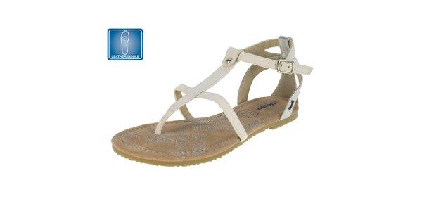 Dámské světlé sandály s koženou stélkou Beppi