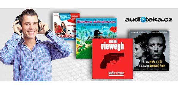 Balík 3 audioknih - dětské, detektivky či angličtina
