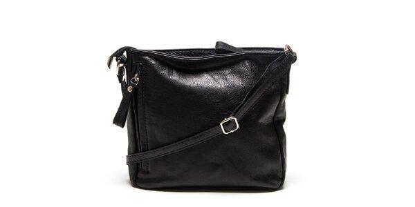 Dámská černá taška přes rameno Roberta Minelli