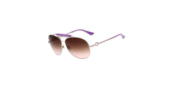 Dámské aviator sluneční brýle s fialovými detaily Miss Sixty