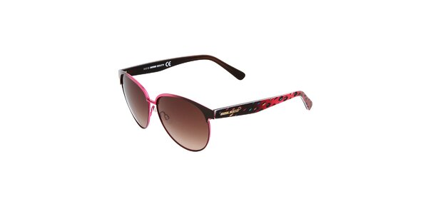 Dámské růžovo-černé sluneční brýle Miss Sixty s barevnými stranicemi