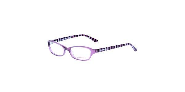 Dámské fialové pruhované obroučky Miss Sixty
