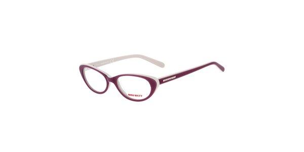 Dámské fialovo-bílé kočičí brýle Miss Sixty
