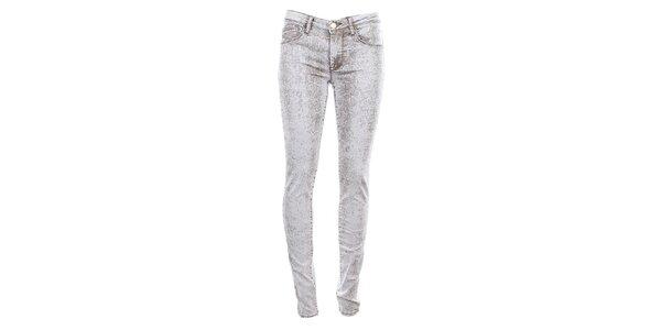 Dámské šedo-bílé džíny Fuga