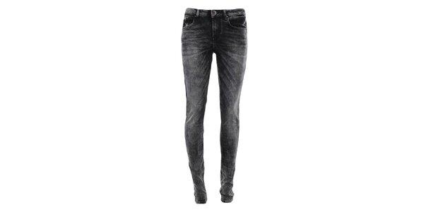 Dámské černé šisované džíny Fuga