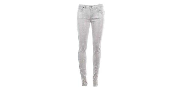 Dámské bílé džíny s hadím potiskem Fuga