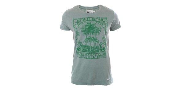 Pánské zelené tričko s potiskem Fuga
