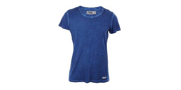 Pánské modré tričko s krátkým rukávem Fuga