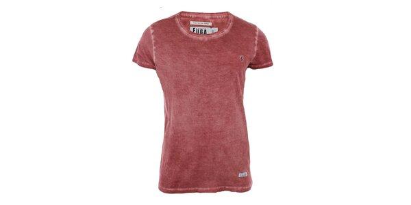 Pánské červené tričko s krátkým rukávem Fuga