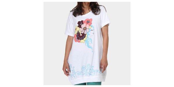Dámské bílé tričko s aplikacemi Piedra and Agua