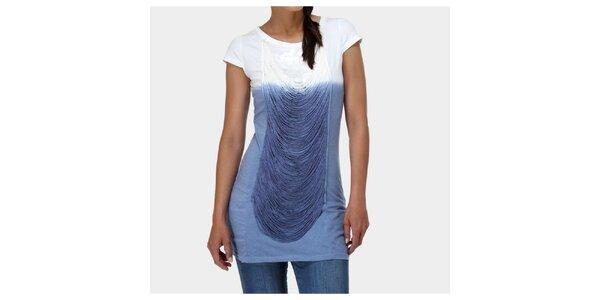 Dámské modro-bílé tričko Piedra and Agua