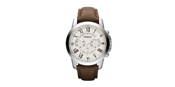 Pánské hodinky Fossil se světlým ciferníkem