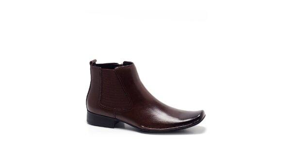 Pánské kávově hnědé kotníkové boty Steve Madden