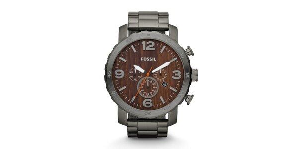 Pánské hodinky Fossil s ciferníkem v imitaci dřeva