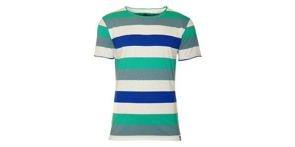Pánské tričko Fundango s barevnými proužky