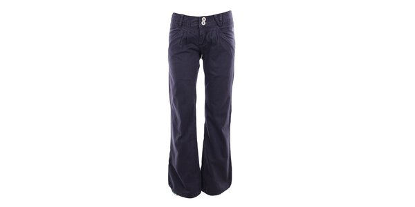 Dámské fialové volné kalhoty Fundango