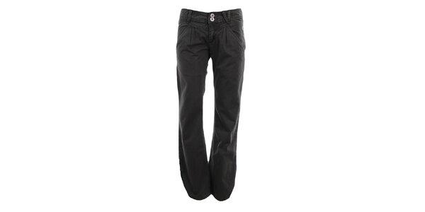 Dámské šedo-zelené volné kalhoty Fundango