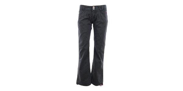 Dámské šedé volné kalhoty s potiskem Fundango