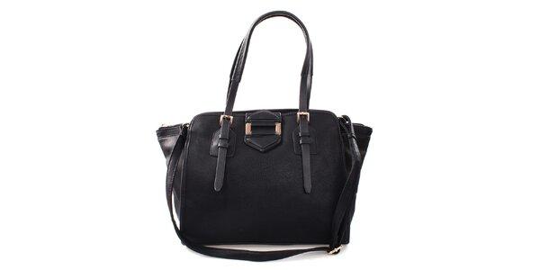 Dámská černá kabelka s kovovou ozdobou Bessie
