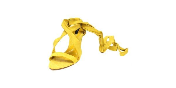 Citronově žluté páskové střevíčky značky Bally