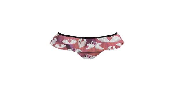 Dámské plavkové kalhotky s labutěmi Mr. GUGU & Ms. GO