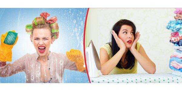 Žehlení prádla nebo mytí oken
