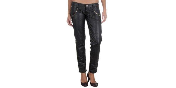 Dámské černé kalhoty z umělé kůže Miss Sixty