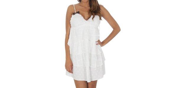 Dámské bílé šaty s kanýry Miss Sixty