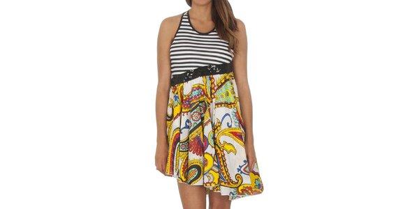 Dámské dvoudílné šaty s asymetrickou sukní Miss Sixty