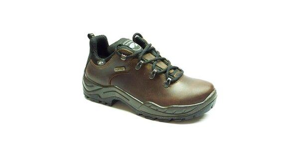 Pánské tmavě hnědé trekové boty Numero Uno