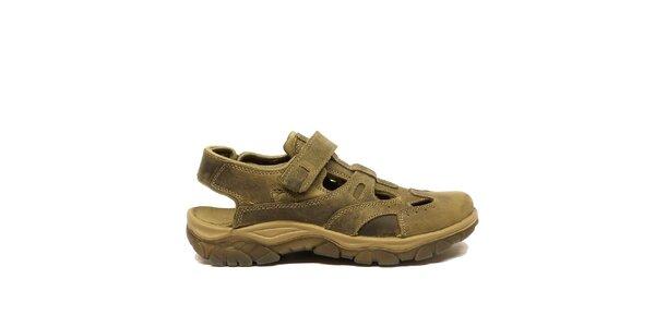 Pánské kožené sandály s uzavřenou špičkou Numero Uno