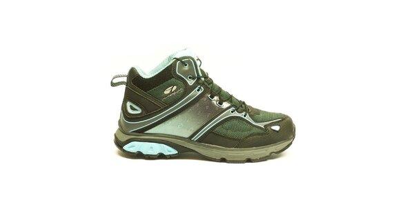 Dámské modro-zelené trekové kotníčkové boty Numero Uno