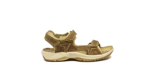 Dámské béžovo-hnědé trekové sandály Numero Uno