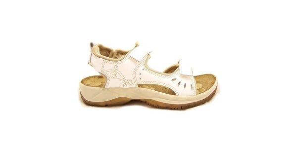 Dámské béžovo-bílé trekové sandály Numero Uno